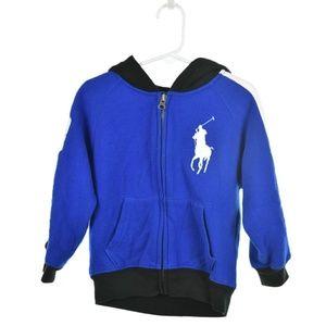 Polo by Ralph Lauren Blue Zip-Up Hoodie